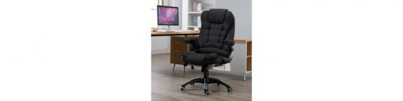 Vinsetto Massage 130° Reclining Chair Office Chair Relax Head 921-171V70BK 5056029854556