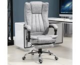 HOMCOM PU Distressed Leather 6-Point Heating Massage Office Chair Grey 921-246V70 5056399131035