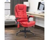 HOMCOM PU Leather Office W/Massage Function, High Back-Red A2-0058 5056029852811